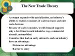 the new trade theory