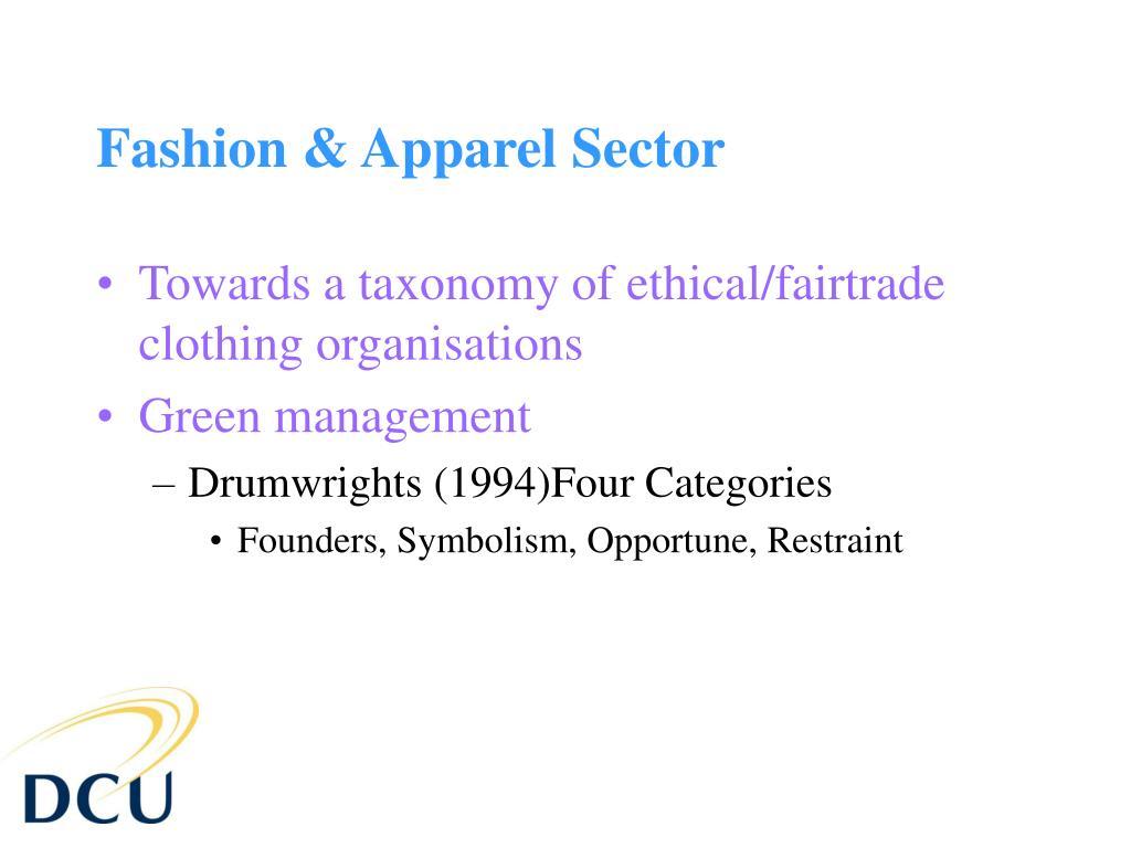 Fashion & Apparel Sector