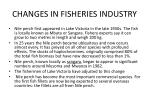 changes in fisheries industry19