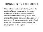 changes in fisheries sector