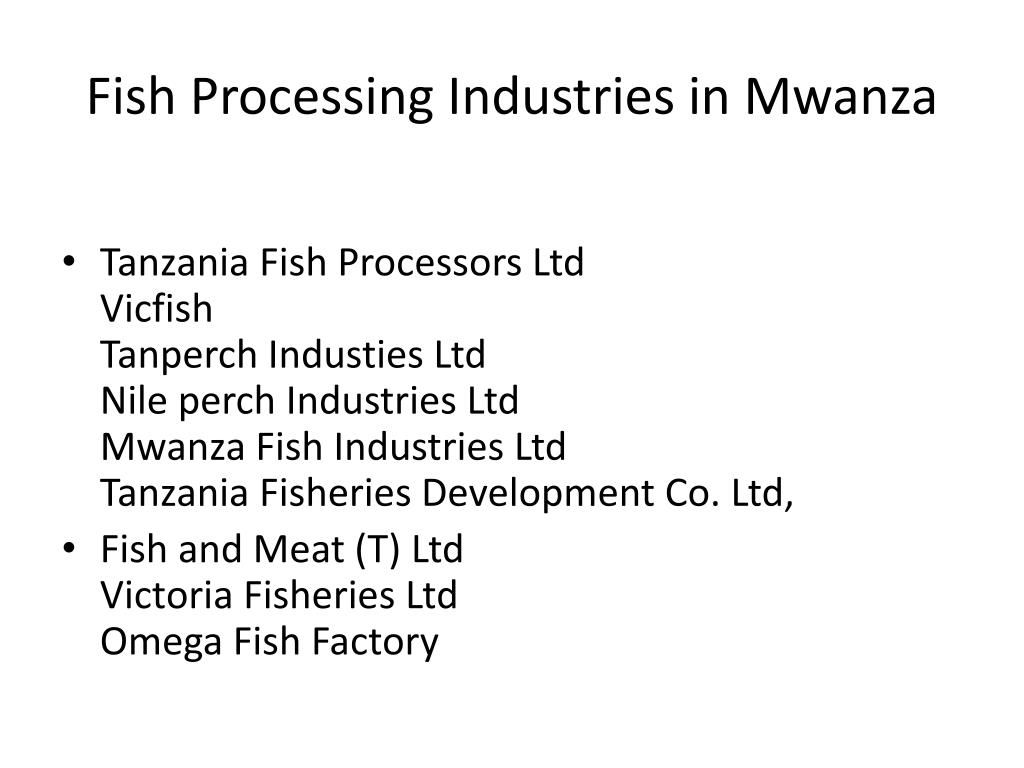 Fish Processing Industries in