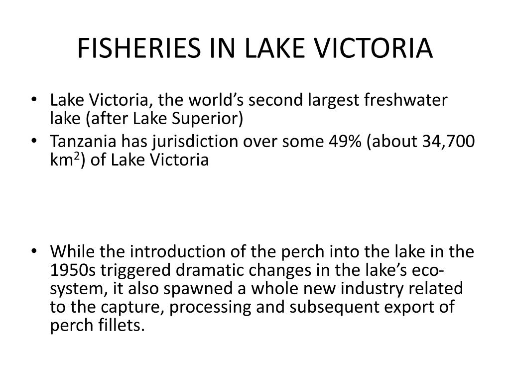 FISHERIES IN LAKE VICTORIA