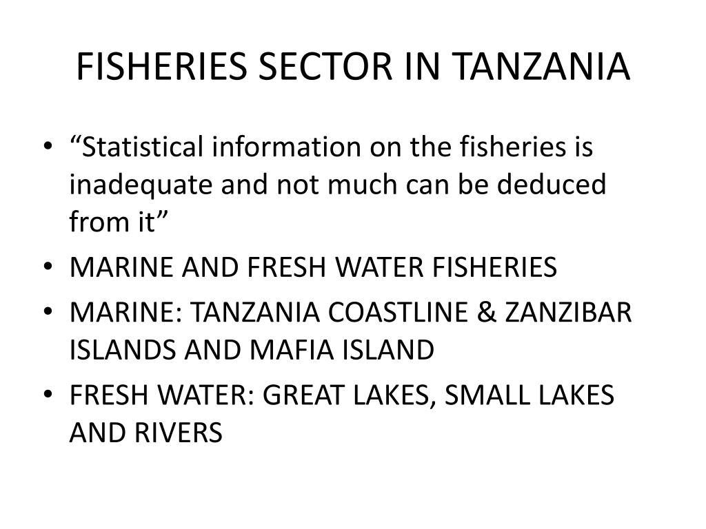 FISHERIES SECTOR IN TANZANIA