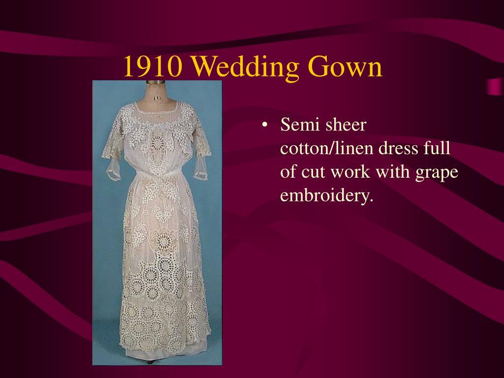 1910 Wedding Gown