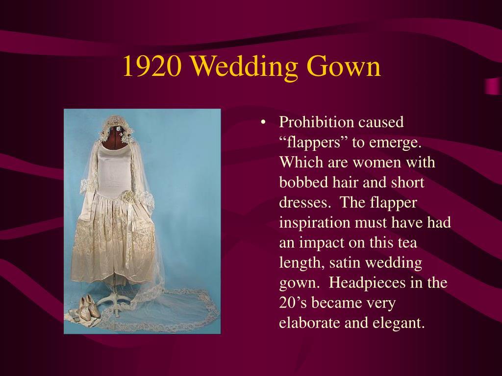 1920 Wedding Gown