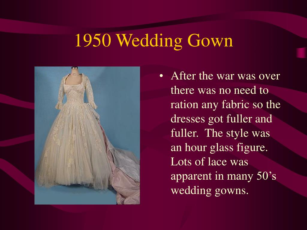 1950 Wedding Gown