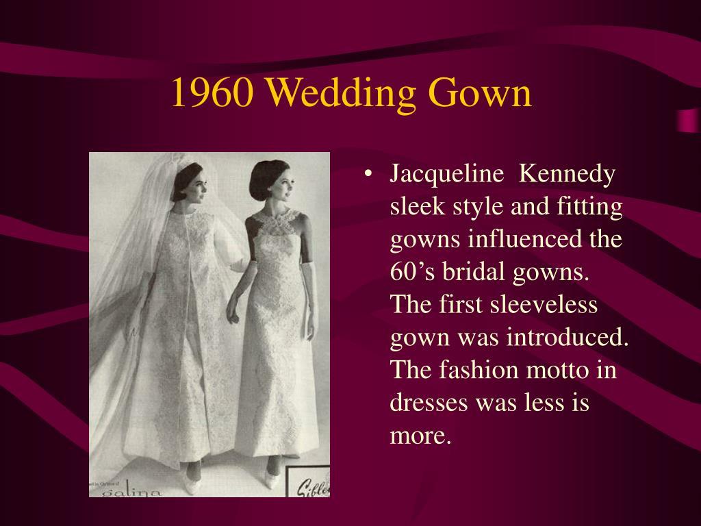 1960 Wedding Gown