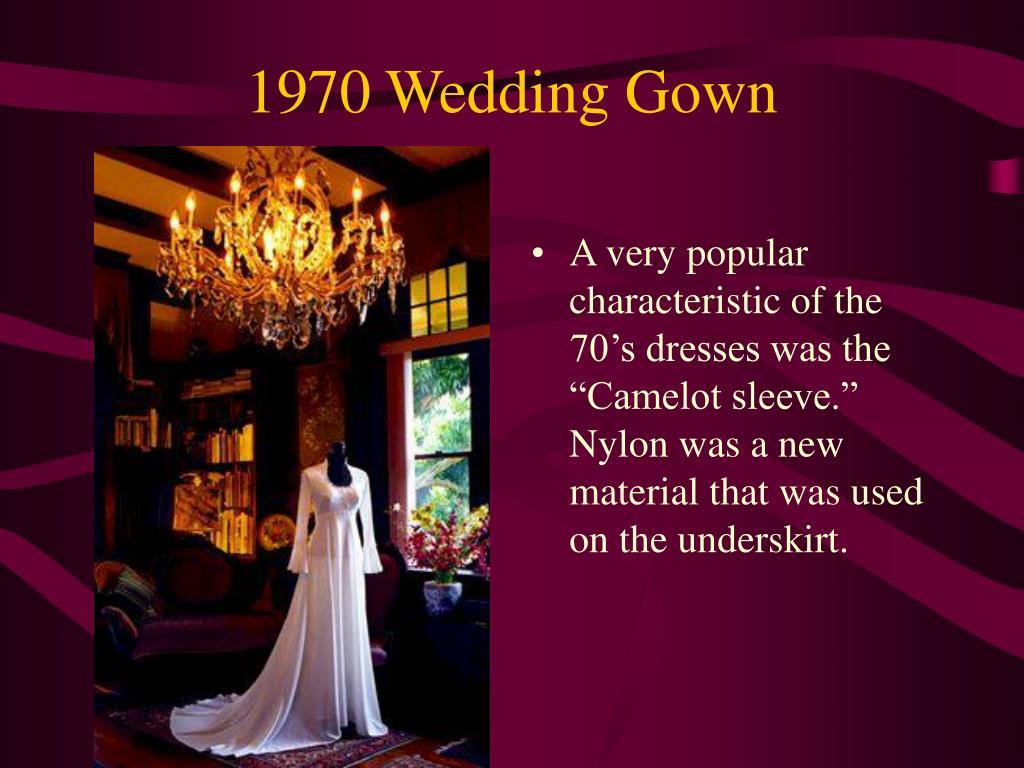 1970 Wedding Gown