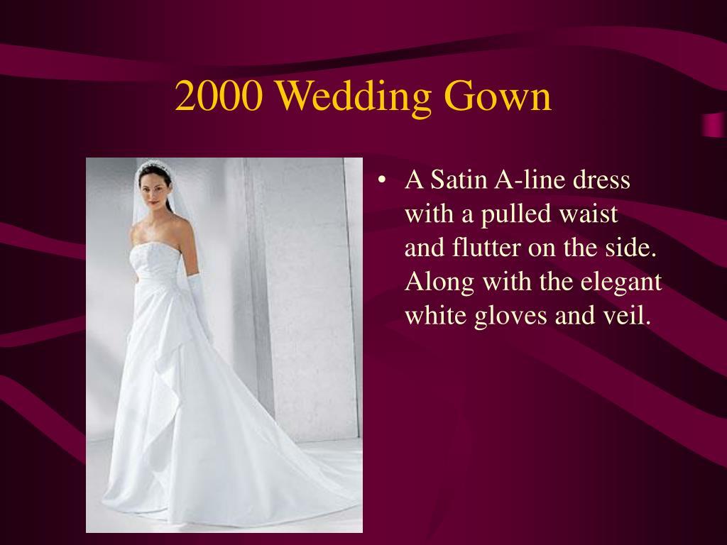 2000 Wedding Gown