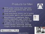 products for men
