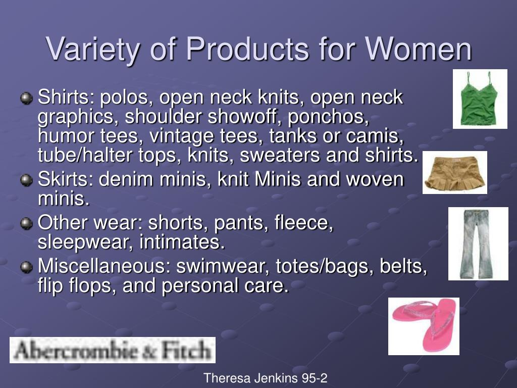 Variety of Products for Women