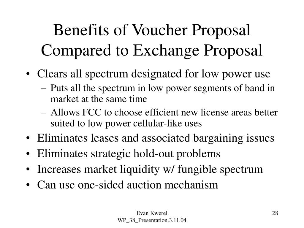 Benefits of Voucher Proposal Compared to Exchange Proposal