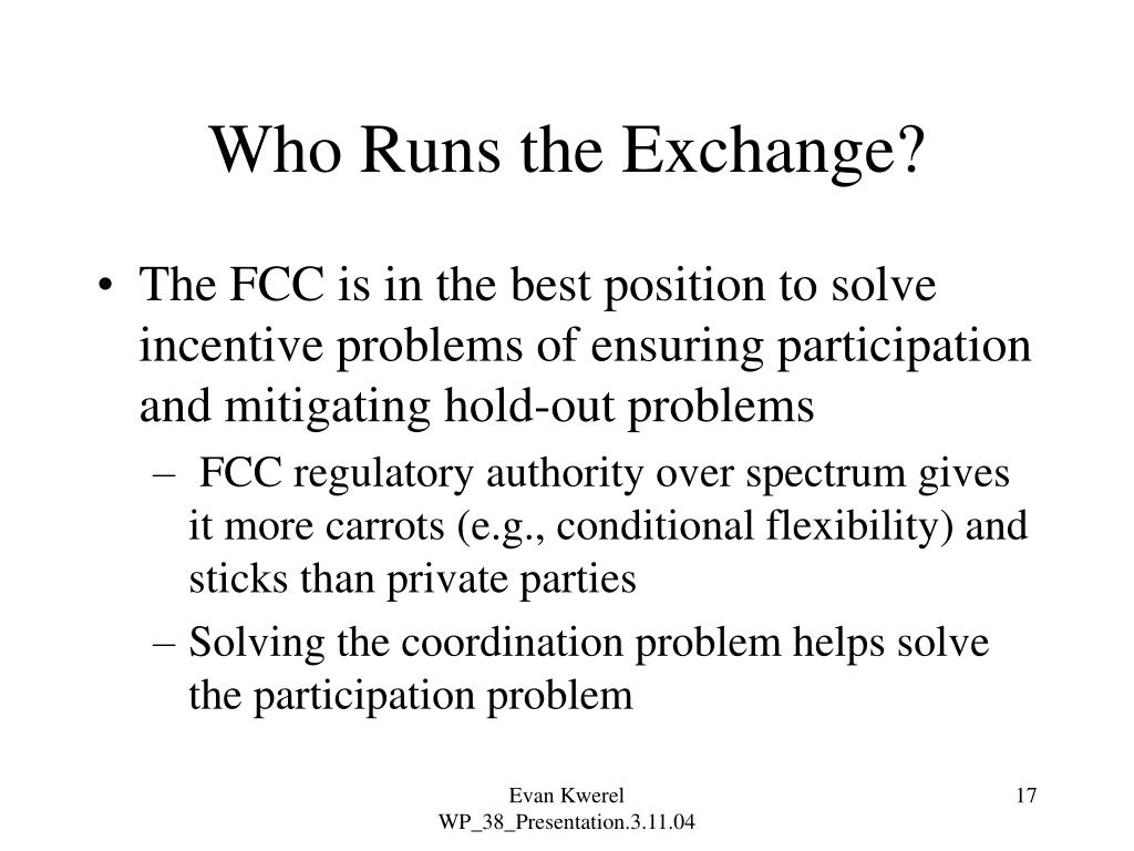 Who Runs the Exchange?