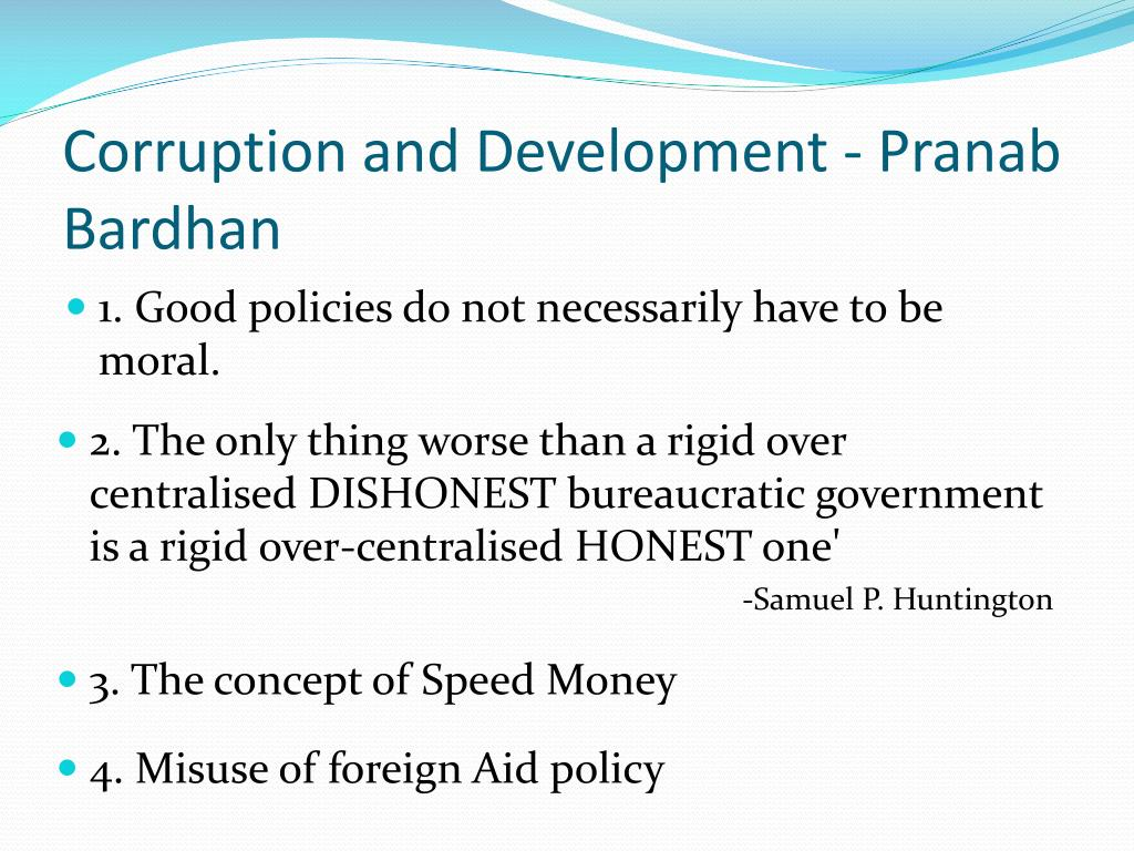 Corruption and Development - Pranab Bardhan
