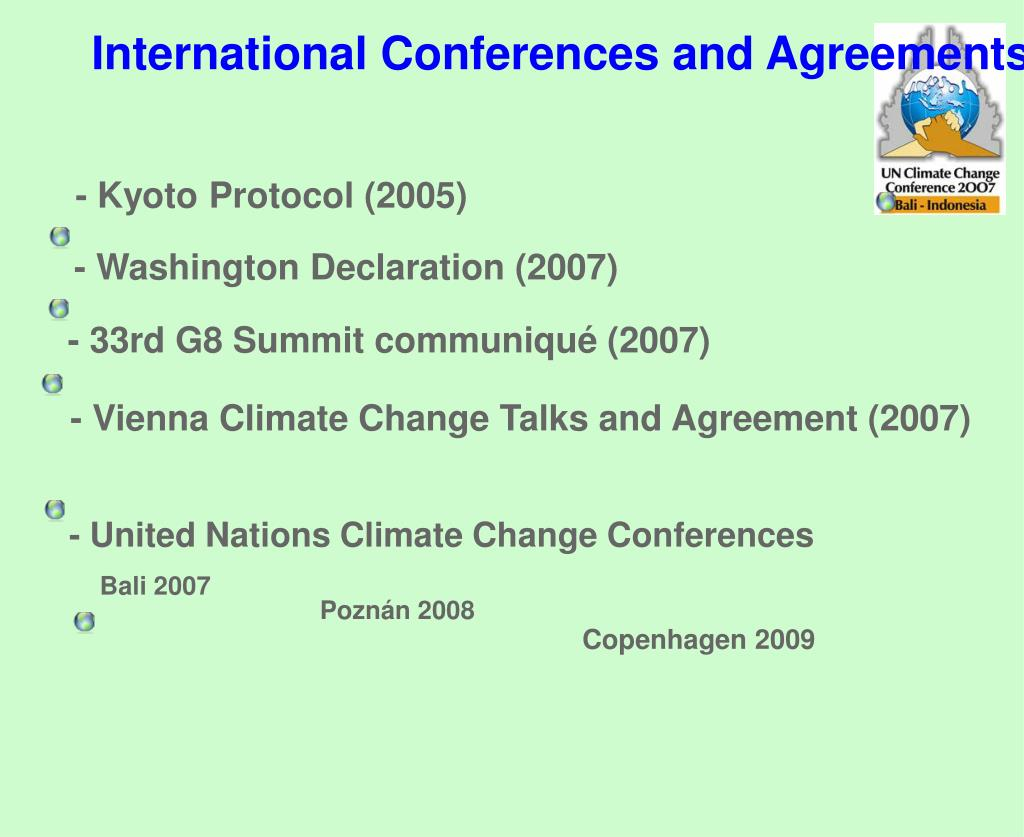 - Kyoto Protocol (2005)