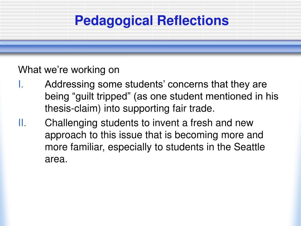 Pedagogical Reflections