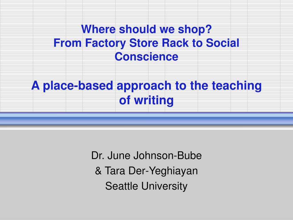 Where should we shop?