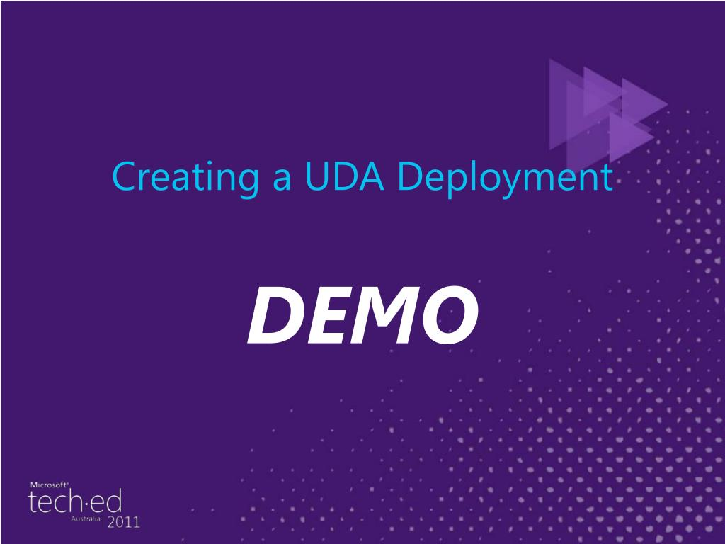 Creating a UDA Deployment