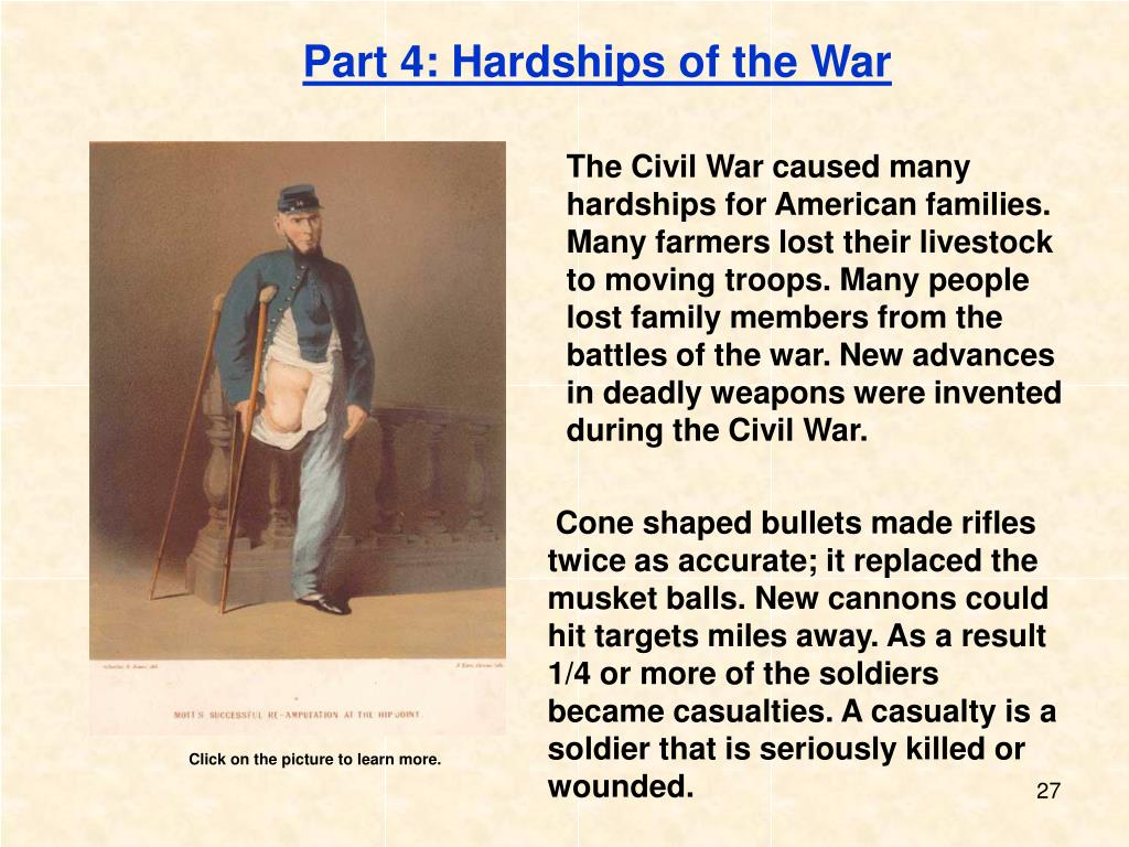 Part 4: Hardships of the War