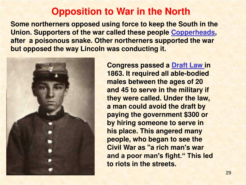 Opposition to War in the North