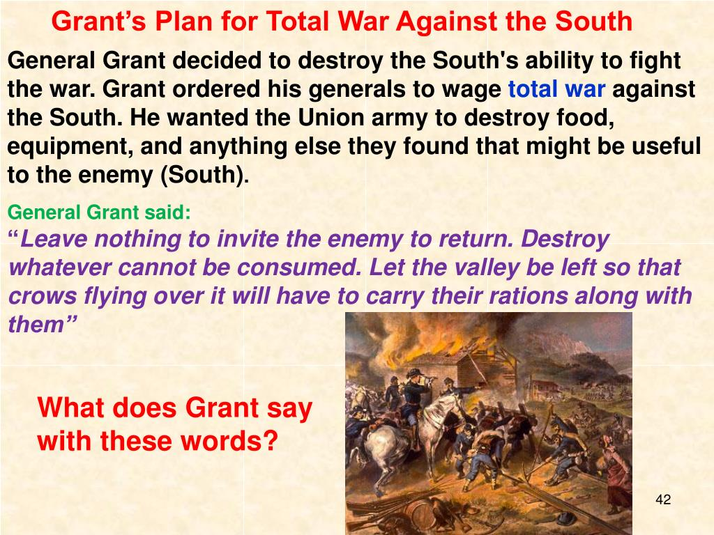 Grant's Plan for Total War Against the South