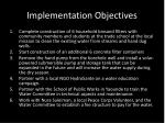 implementation objectives