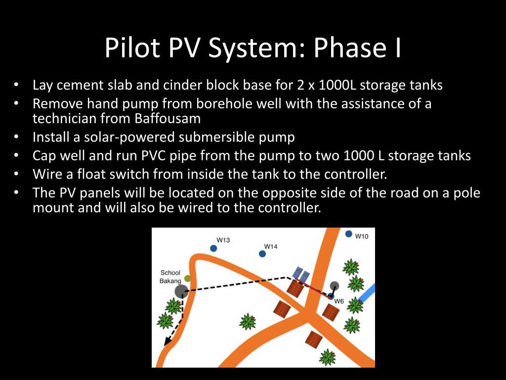 Pilot PV System: Phase I