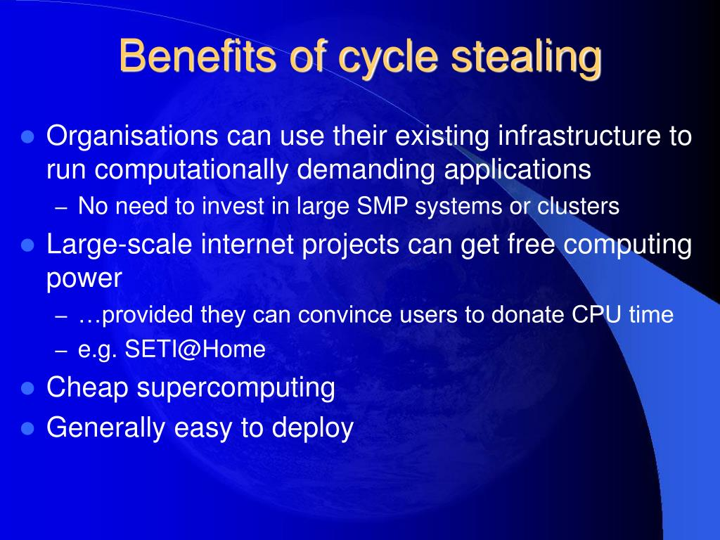 Benefits of cycle stealing