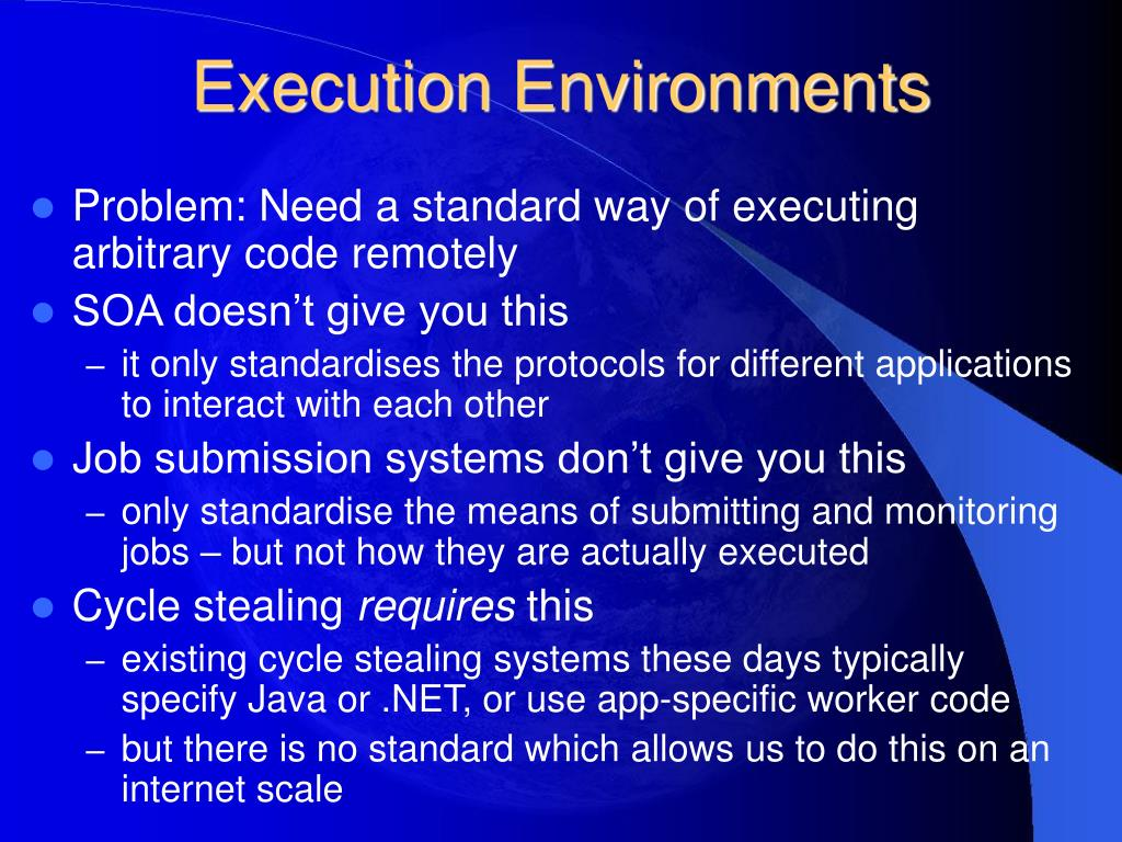 Execution Environments