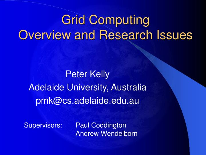 Grid computing overview and research issues l.jpg