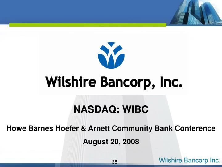 NASDAQ: WIBC