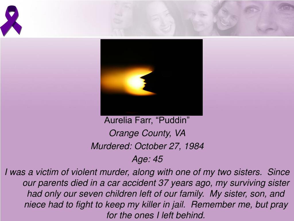 "Aurelia Farr, ""Puddin"""
