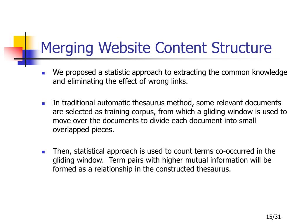 Merging Website Content Structure