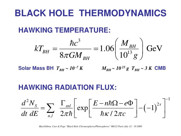 Black hole thermodynamics