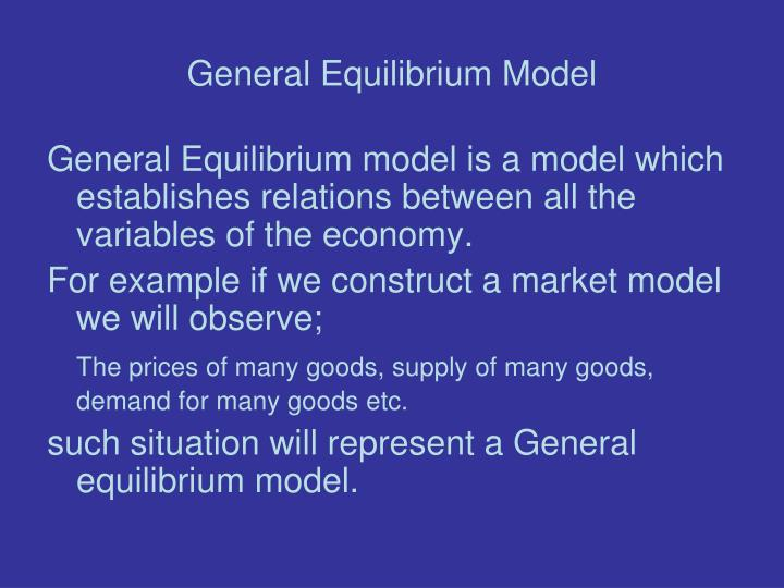 an introduction to the general model of economic behaviour in macroseconomics Economic analysis volume edited by gilbert faccarello and heinz kurz its aim is to introduce the reader to the main episodes that have marked the course of modern macroeconomics: its emergence after the publication of keynes's general theory, the heydays of keynesian macroeconomics based on the is-lm model,.