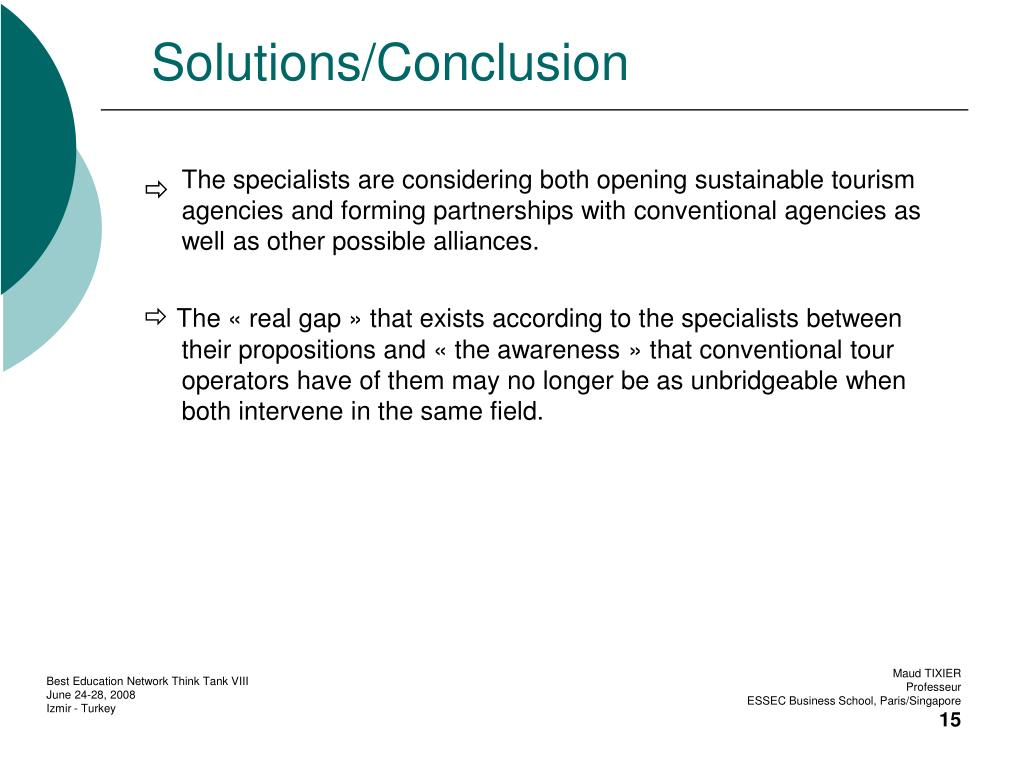 Solutions/Conclusion