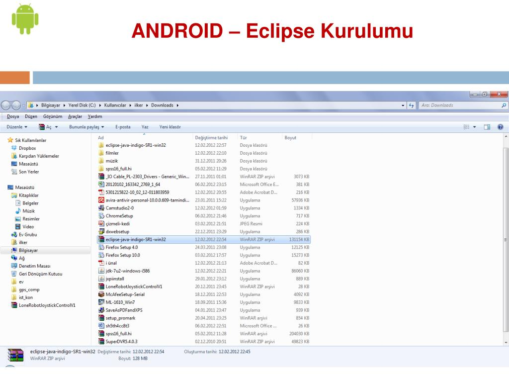 ANDROID – Eclipse Kurulumu