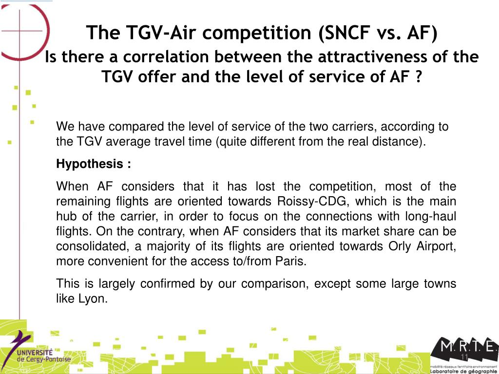 The TGV-Air competition (SNCF vs. AF)