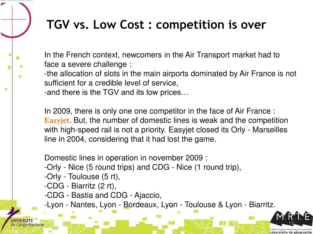 TGV vs. Low Cost : competition is over