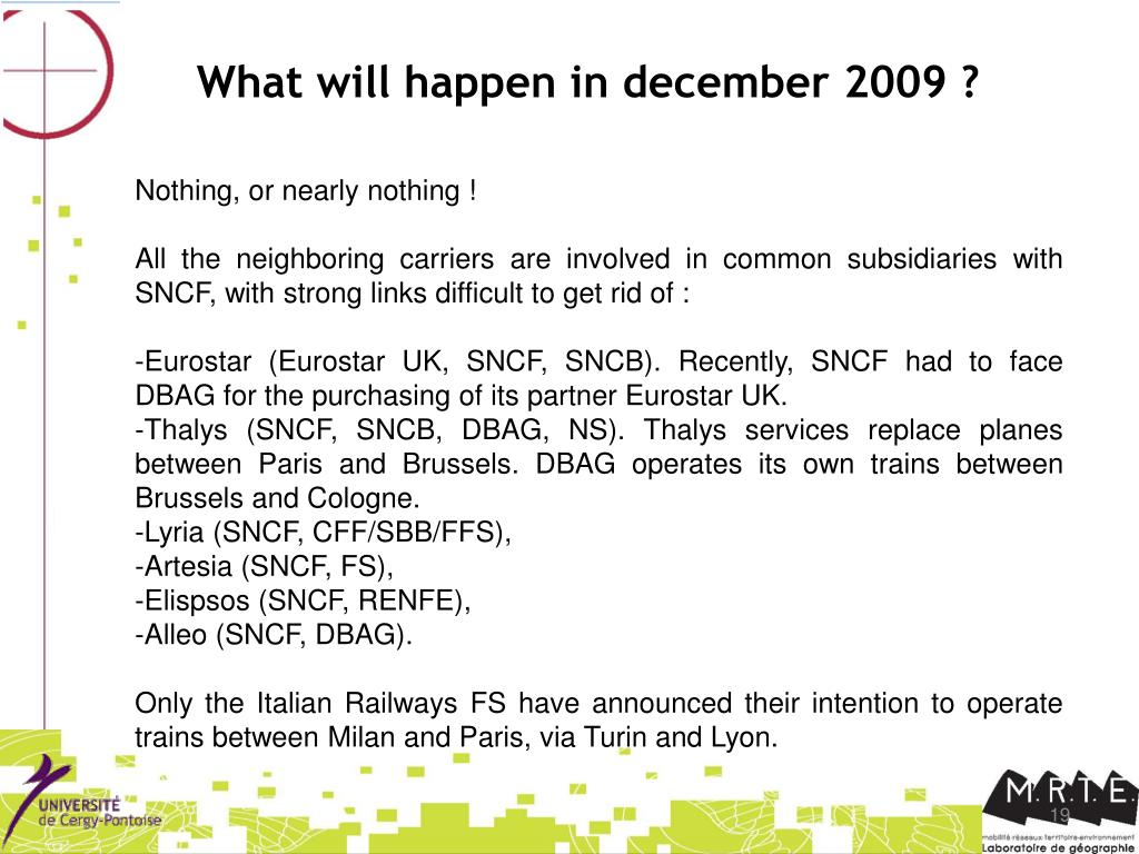 What will happen in december 2009 ?