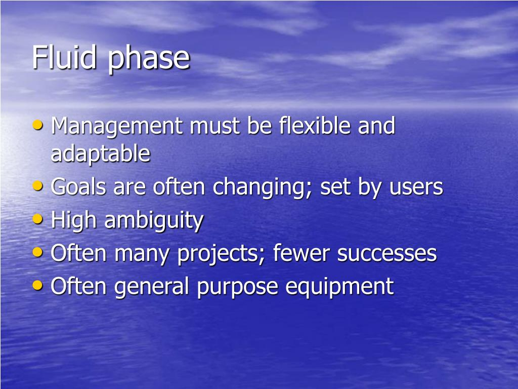 Fluid phase