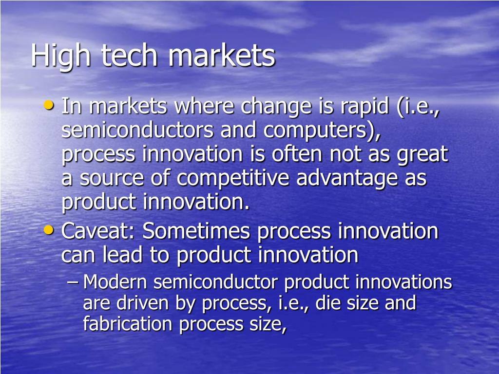 High tech markets