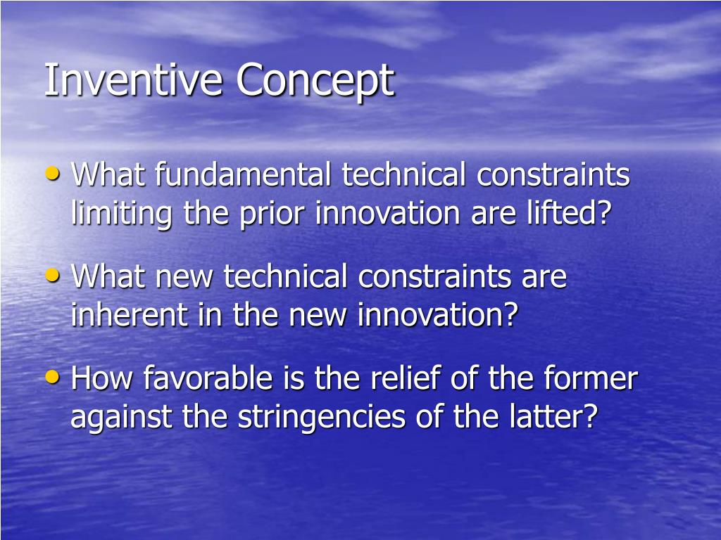 Inventive Concept
