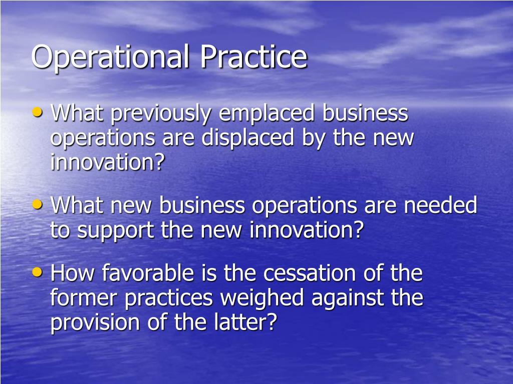 Operational Practice