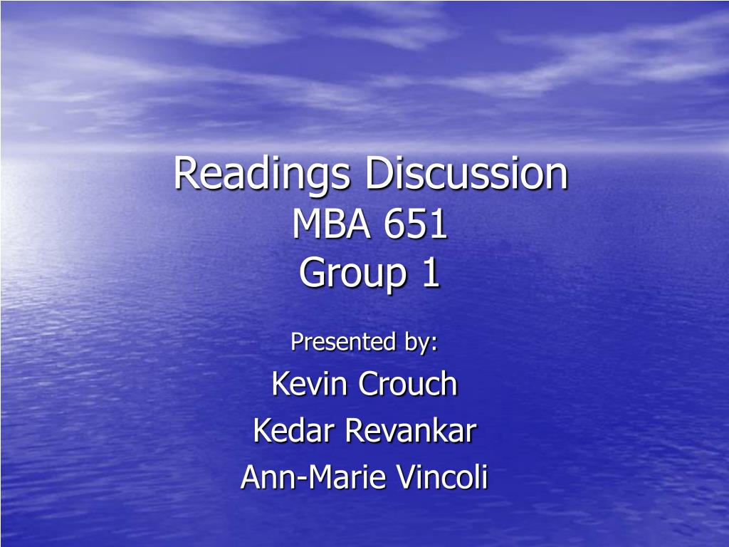 Readings Discussion