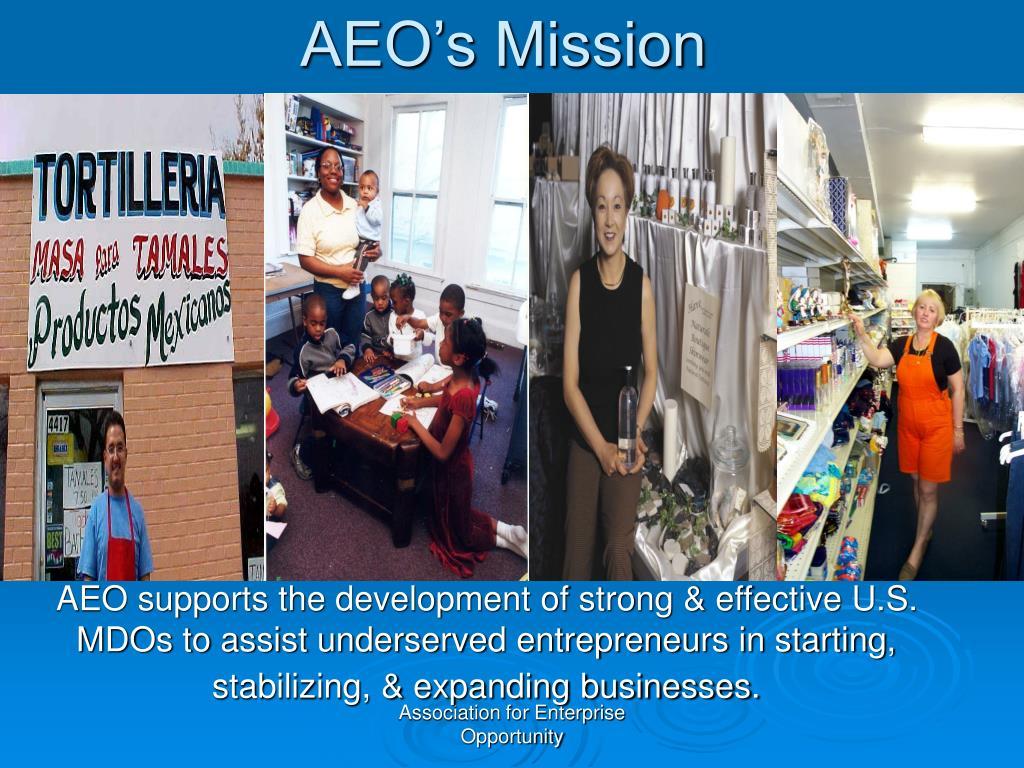 AEO's Mission