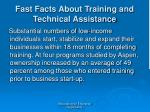 fast facts about training and technical assistance