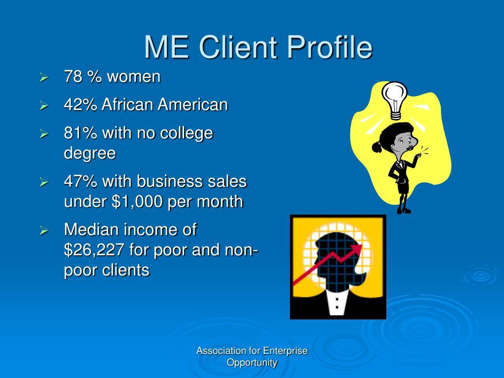 ME Client Profile