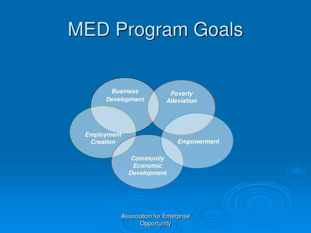 MED Program Goals