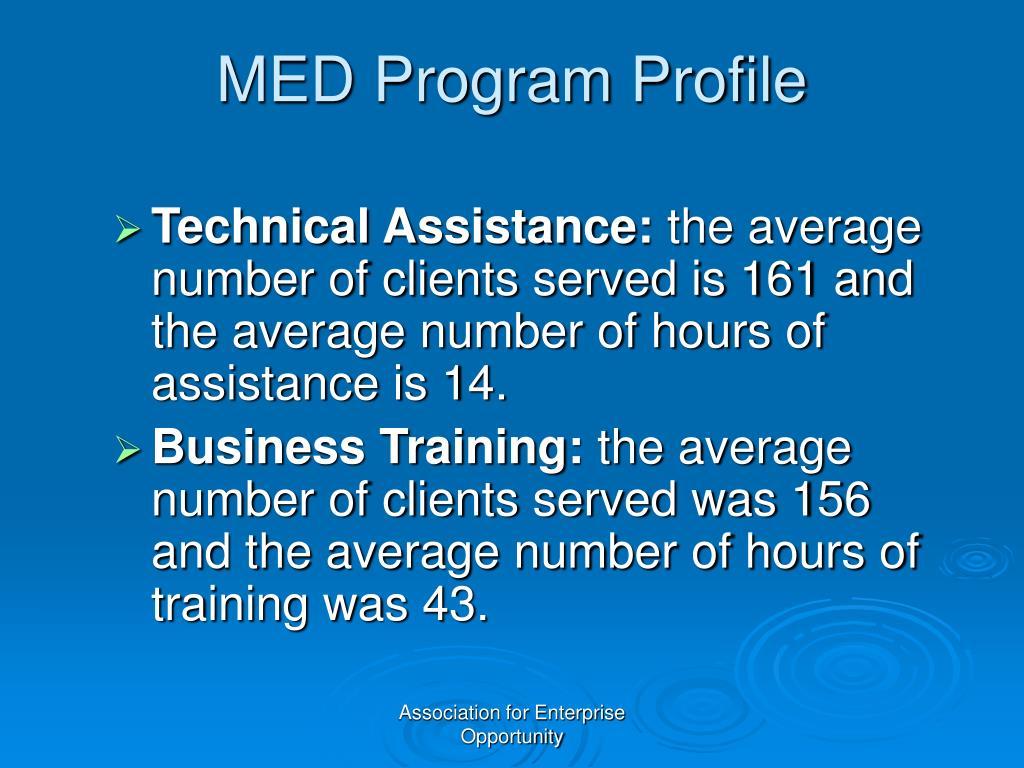MED Program Profile